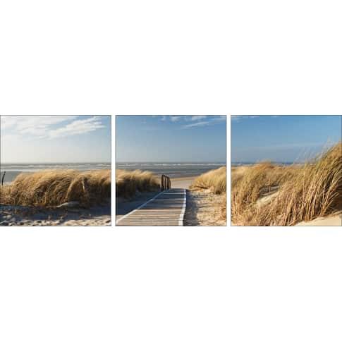 Bild Nordseestrand, Float-Glas Vorderansicht