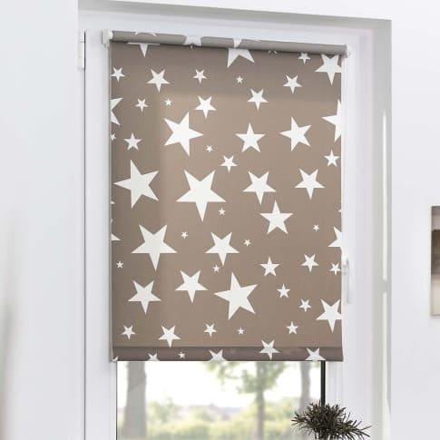 Klemmfix-Rollo Sterne Tageslicht, lichtdurchlässige Rollo, Sichtschutz, Endlosketten-Bedienung, Polyester Katalogbild