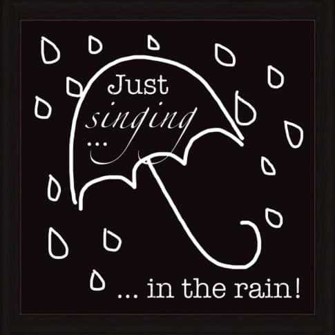 Bild Singen im Regen Vorderansicht