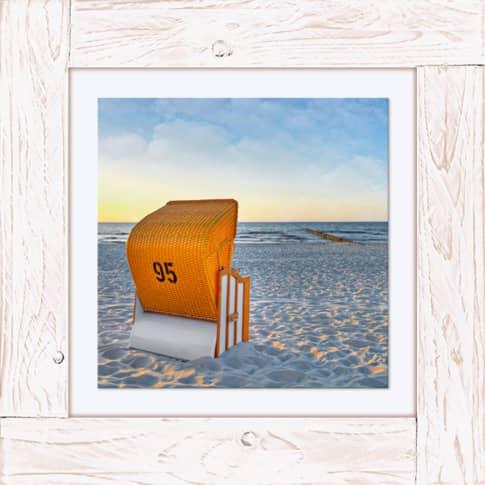 Bild Strandkorb Vorderansicht