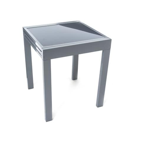 Outdoor-Bistrotisch Futura, Aluminium/Glas Vorderansicht