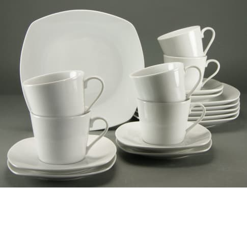 Kaffeeservice, 18-tlg. Antonia, spülmaschinengeeignet, Porzellan Vorderansicht