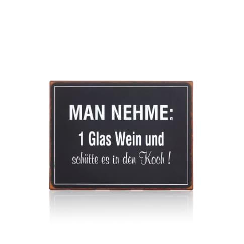 Metallschild, 35 x 26 cm Vorderansicht