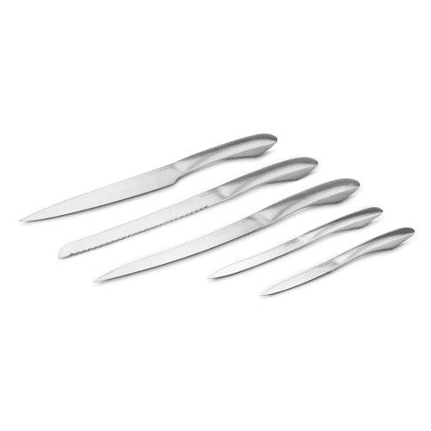 Küchenmesser-Set Aparta, Edelstahl Vorderansicht