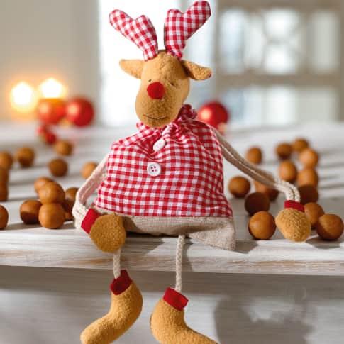 Weihnachtsbeutel gefüllt Elch, inkl. ca. 100g Marzipankartoffeln Katalogbild