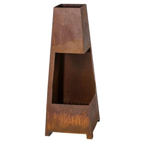 Feuerstelle Rustik, Metall Vorderansicht
