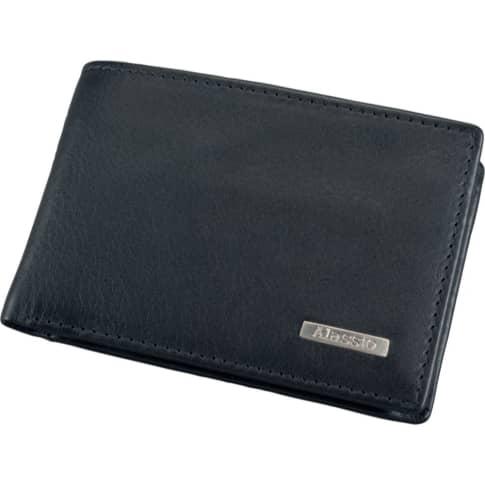 Mini Geldbörse, Querformat, Leder Vorderansicht