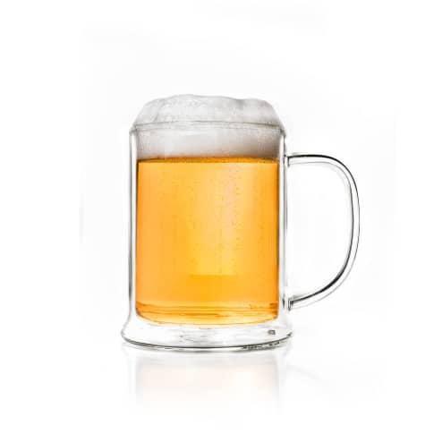 Doppelwandiges Bierglas, 500ml Vorderansicht