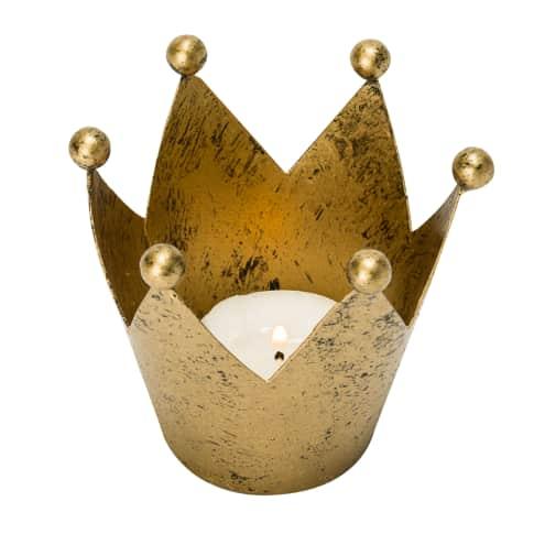 Teelichthalter Krone Vorderansicht