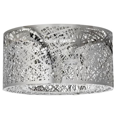 Deckenleuchte Grate II, Metall/Glas, ca. Ø 40 cm Vorderansicht