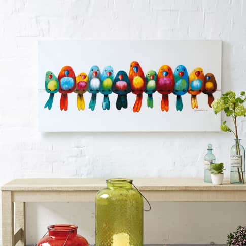 Bild Vogelparade, Holz, ca. L120xH60 cm Katalogbild