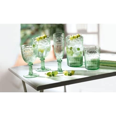 Rotweinglas-Set, 6-tlg., Blätterrankenverzierung, Glas, ca. Ø9 x H18 cm Katalogbild