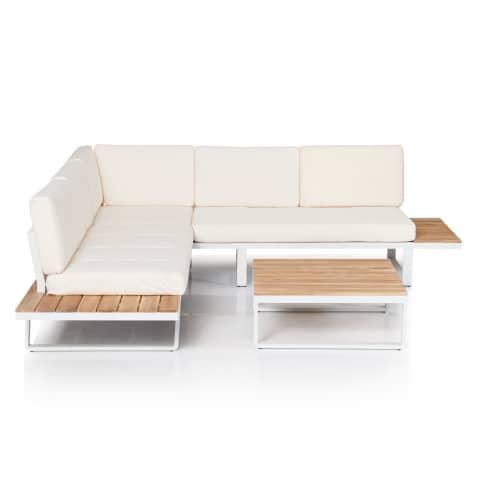 Outdoor-Lounge-Set, 2-tlg. Mila, wasserabweisende Bezüge, Clean chic Vorderansicht