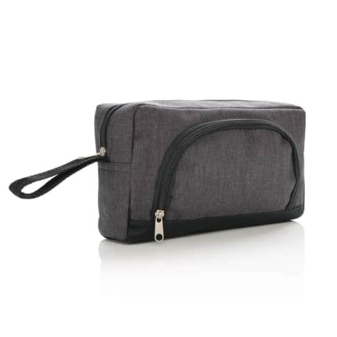 Kulturtasche zweifarbig Two Tone, kleine Zusatztasche vorn Vorderansicht