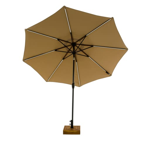 Sonnenschirm mit LED-Beleuchtung, ca. Ø 270 cm Vorderansicht