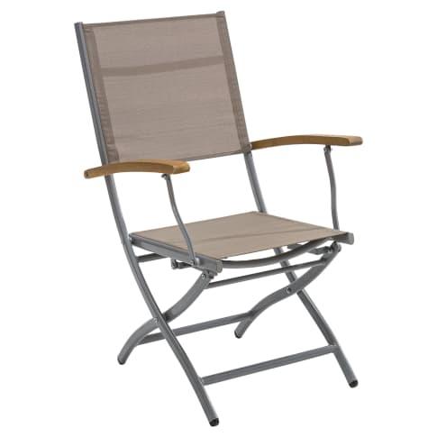 Outdoor-Stuhl-Set, 2-tlg. klappbar Capri Vorderansicht