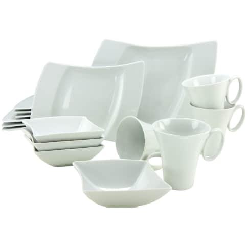 Geschirr-Set, 16-tlg. Shape, spülmaschinen- und mikrowellengeeignet, Porzellan Vorderansicht