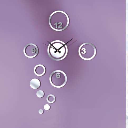Wanduhr Zahlen & Bubbles Katalogbild