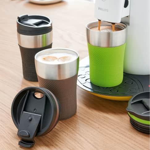 Thermobecher To go, doppelwandig, ca. 0,25 l, passt unter viele gängige Kaffeeautomaten Katalogbild