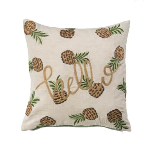 Kissenhülle Crazy Pineapple Vorderansicht