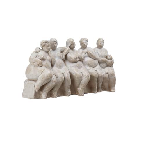 Deko-Figur Girlfriends, Polyresin, ca. L38 x B11,5 x H18 cm Vorderansicht