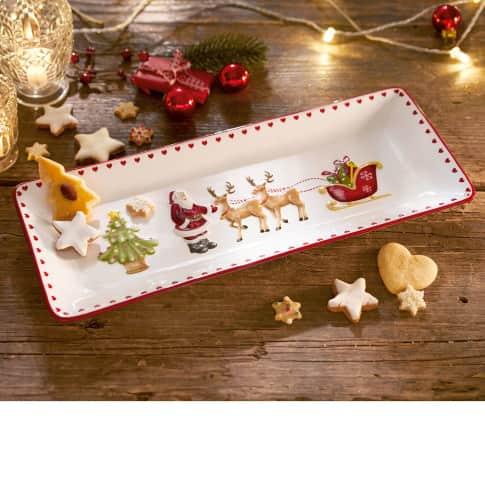 Kuchenplatte Traditional Christmas, handgefertigt, Dolomit, ca. B40cm Katalogbild