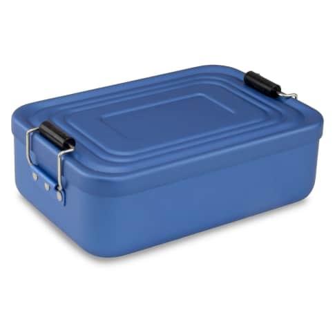Proviantbox Lunchbox Quadra matt blau Vorderansicht