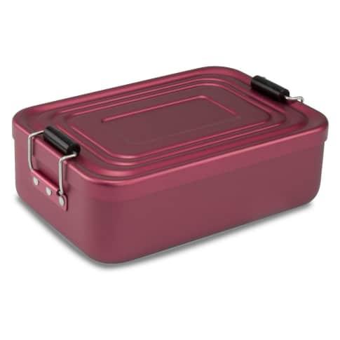 Proviantbox Lunchbox Quadra matt rot Vorderansicht