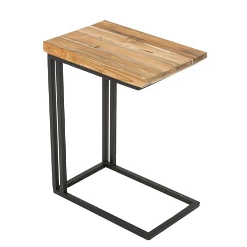 Beistelltisch Amin, Holz, ca. B30 x T45 x H58,5 cm Vorderansicht