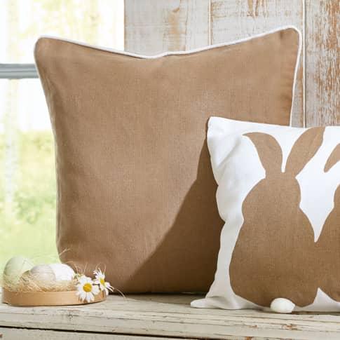 Kissenhülle Country, mit weißer Paspel, 100% Baumwolle, ca. L40 x B40 cm Katalogbild