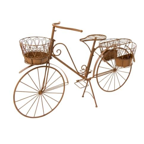Deko-Fahrrad mit Pflanzhalter Rusty, Metall Vorderansicht