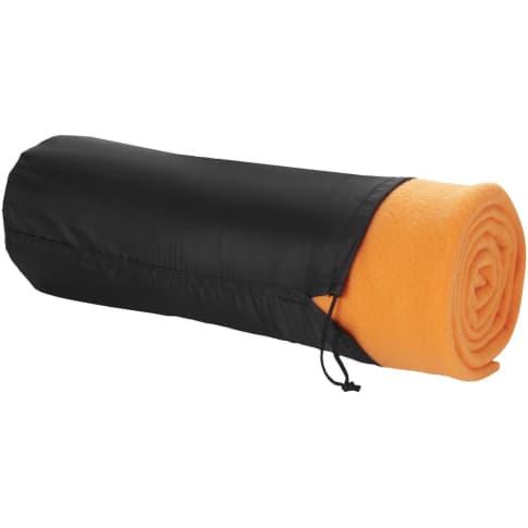 Decke und Hülle Huggy, mit handlichem Beutel und Kordelzugverschluss Vorderansicht
