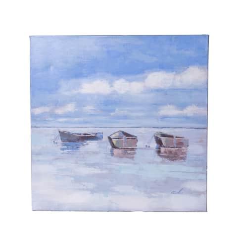 Bild Boote, handgemalt, Maritimer Look, ca. B60 x H60 cm Vorderansicht