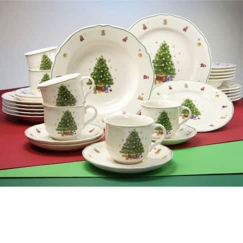 Geschirr-Set Tannenbaum, 30-tlg., Premium Porzellan Vorderansicht