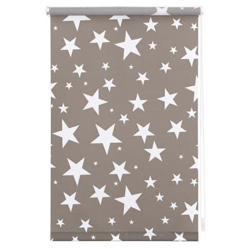 Klemmfix-Rollo Sterne Tageslicht Vorderansicht
