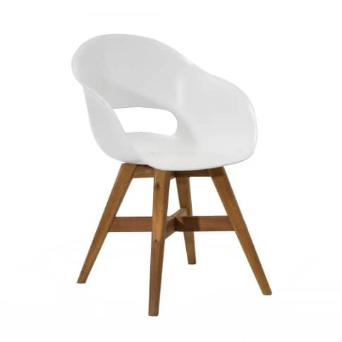 Outdoor-Stuhl Karl, Kunststoff Holz Vorderansicht