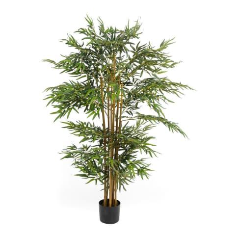 Kunstpflanze Bambusbaum, Naturstamm, ca. H160 cm Vorderansicht