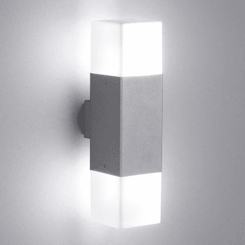 Outdoorleuchte Trio Cube, mit LED, Aluguss, ca. H 33 cm Vorderansicht