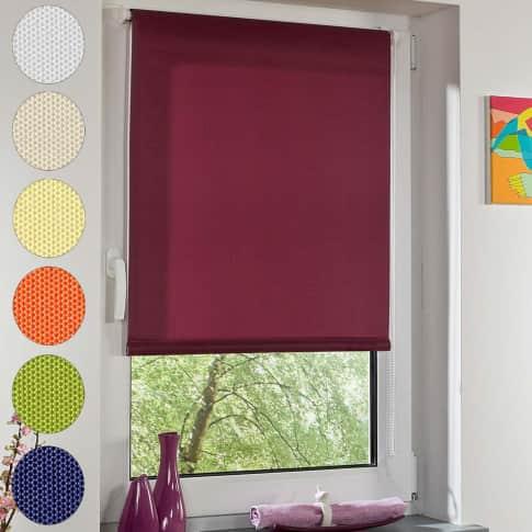 Klemmfix-Rollo Lichtdurchlässig, einfache Montage ohne Bohren, Polyester Vorderansicht
