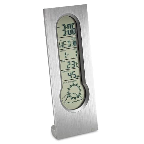 """Wetterstation """"Turin"""", mit Wettervorhersage, Wecker Vorderansicht"""