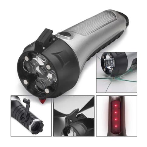 """Taschenlampe mit Notfallwerkzeug """"Stockton"""", LED Vorderansicht"""