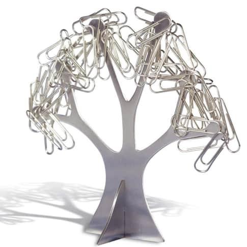 Büroklammernhalter Otani, Baumform, Magnethalterung Vorderansicht