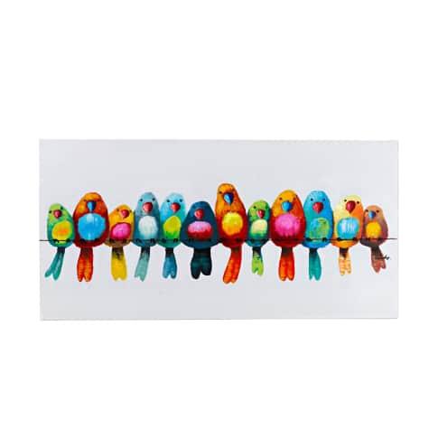 Bild Vogelparade, Holz, ca. L120xH60 cm Vorderansicht