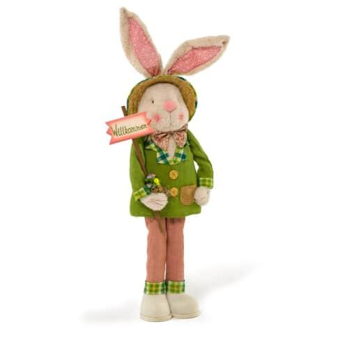 Deko-Figur Hase Ferdi, zum Stellen, Polyester/ Baumwolle/ Holz, Höhe ca. 120 cm Vorderansicht