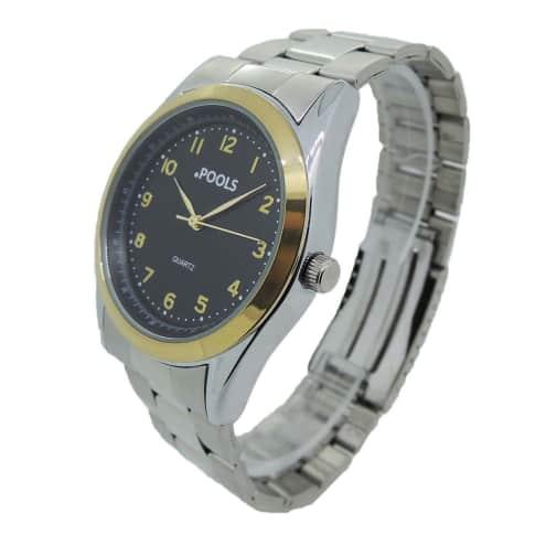 Armbanduhr, mit Metallband Vorderansicht