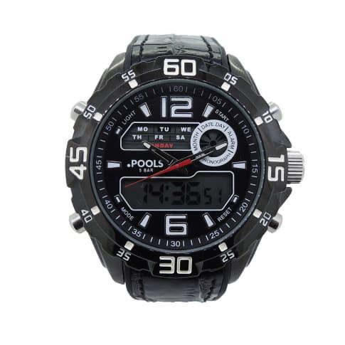 Armbanduhr, analog & digital, wasserdicht Vorderansicht