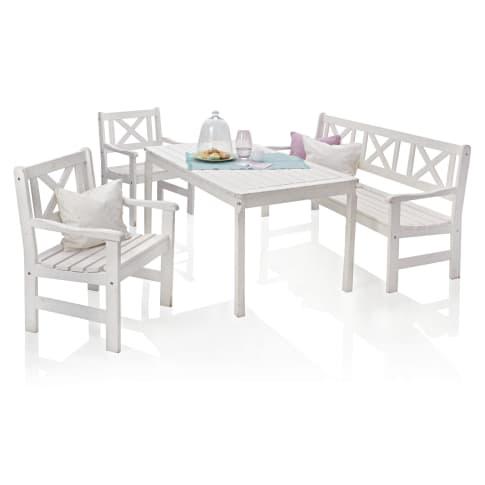 Outdoor-Möbel-Set, 4-tlg. Landhaus, Landhausstil, Kiefer massiv Vorderansicht