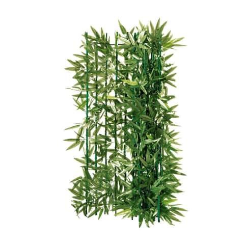 Sichtschutz Bambus, zuschneidbar, Drahtgeflecht, Kunststoff Vorderansicht