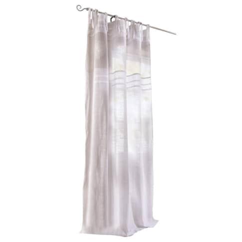 Vorhang Vanessa, Bestickt/Transparent, 100% Baumwolle, ca. 140 x 250 cm Vorderansicht