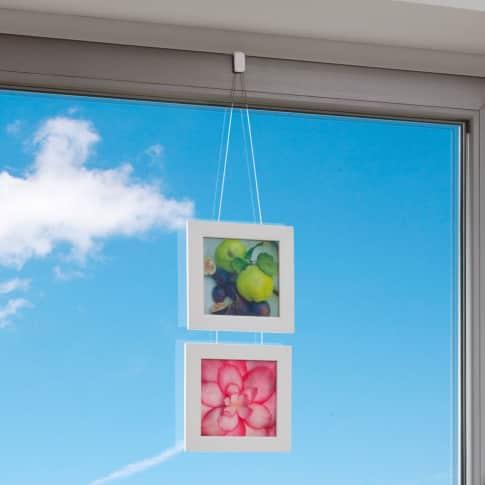 Klemmträger für Fensterdekoration, einfache Montage ohne Bohrlöcher, Kunststoff Katalogbild